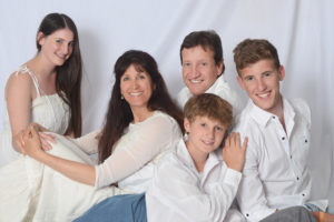White family against white backdrop