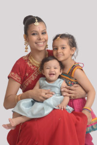 Indian Mom and 2 kids