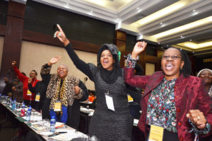 Audience at the Int. Socio-Economic Conf. for Women in Johannesburg 2016