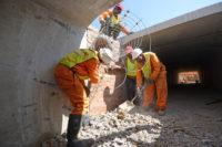 Roadbuilders building gulley