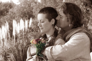Wedding guests sepia