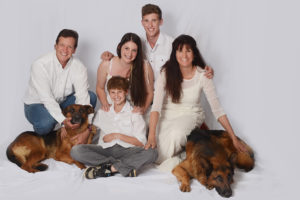 Rod and family with dog