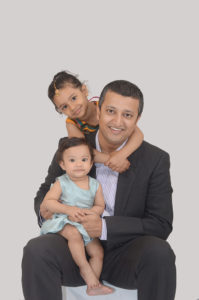 Indian dad and 2 daughters