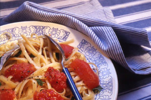 Spaghetti and tomato dish