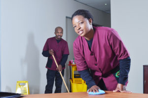 The Cleaning Solution - office cleaners at work