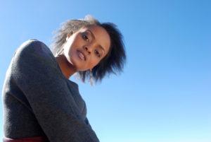 Maphindi-Portfolio-low angle on black female model